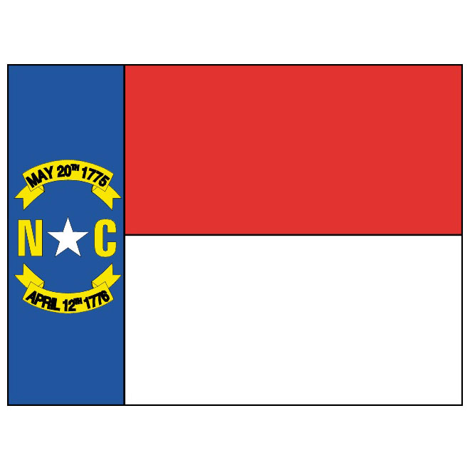 North Carolina vector flag.