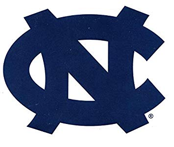 4 Inch UNC Blue Logo Decal University of North Carolina Tarheels Tar Heels  NC Removable Wall Sticker Art NCAA Home Room Decor 4 by 3 Inches.