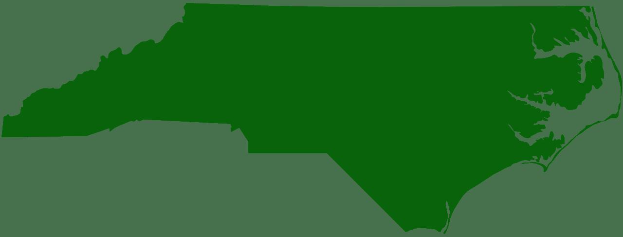 North Carolina Map silhouette.