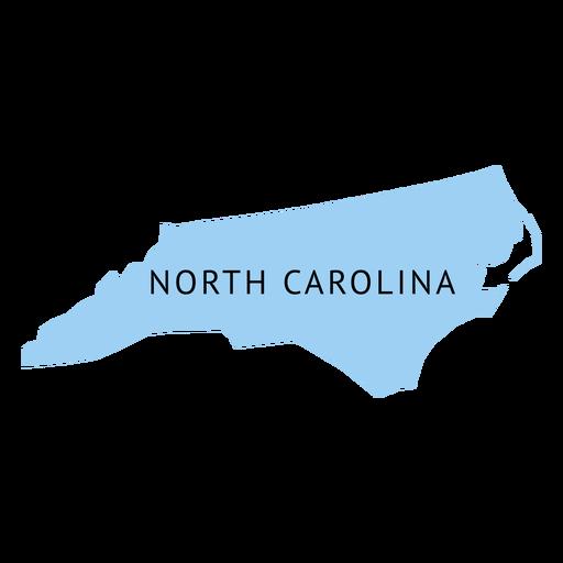 North carolina state plain map.