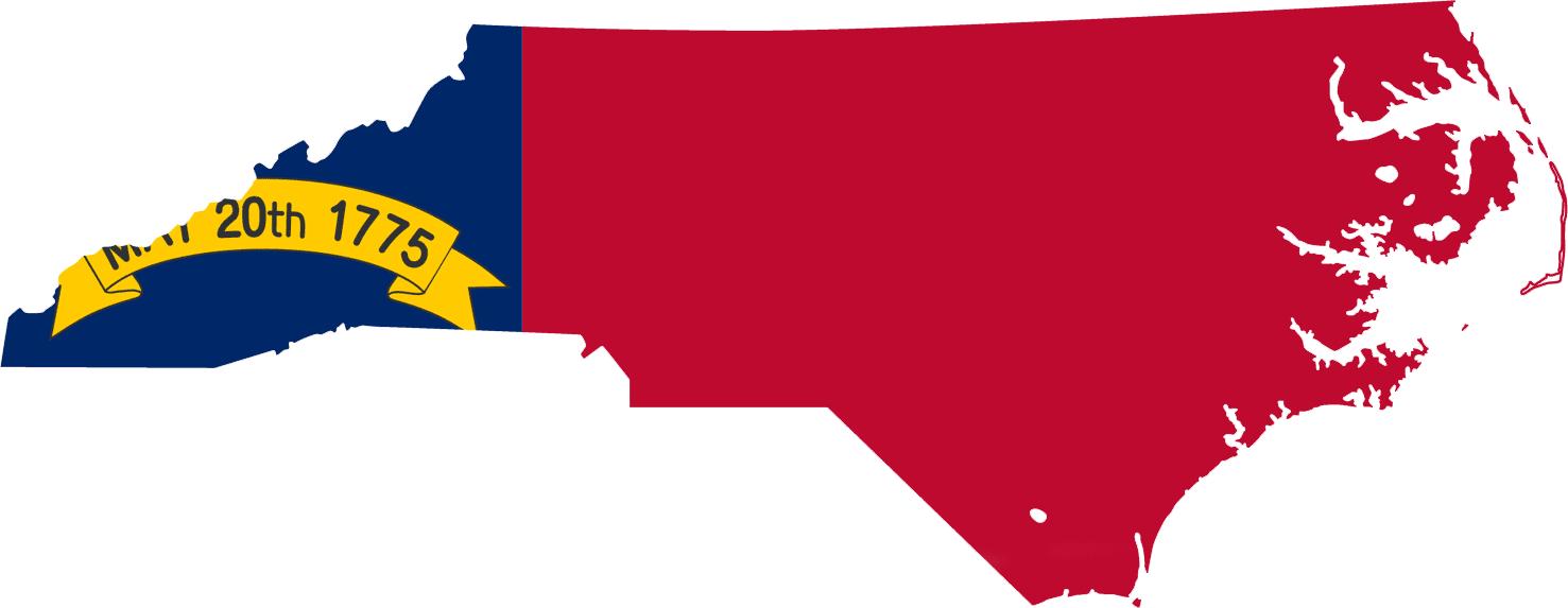 North Carolina Flag Map • Mapsof.net.