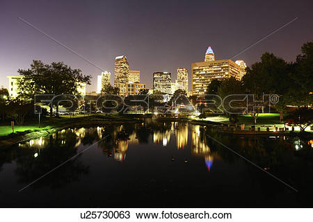 Stock Photo of Charlotte, NC, North Carolina, Downtown Skyline.