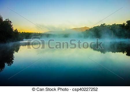 Stock Images of Grandfather Mountain Sunrise Reflections on Julian.