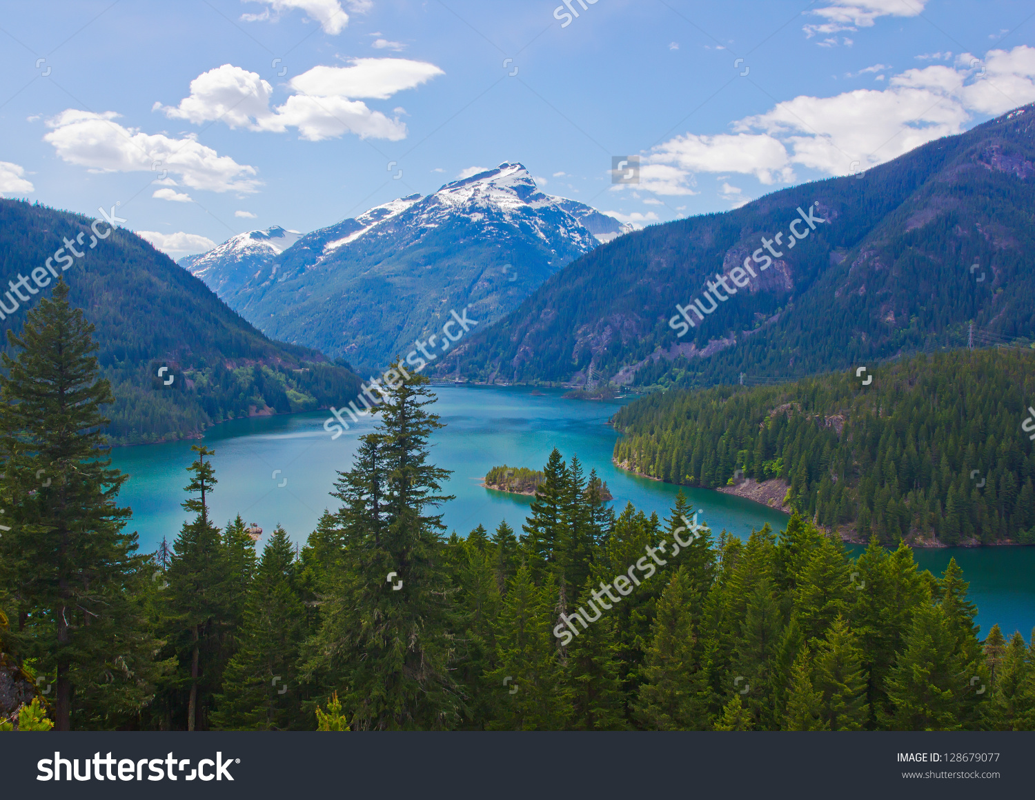 Diablo Lake. North Cascades National Park, Washington, Usa Stock.