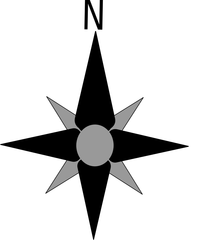 North Arrow Transparent Background.
