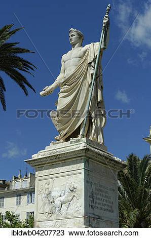 Stock Photo of Monument to Napoleon Bonaparte on the Saint Nicolas.
