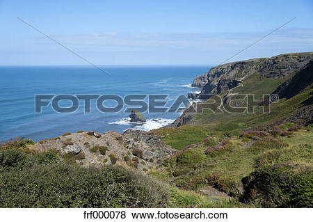 Pictures of United Kingdom, England, Cornwall, Boscastle, High.