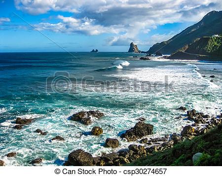 Stock Images of Tenerife north coast.