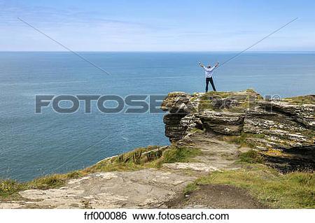 Stock Images of United Kingdom, England, Cornwall, Tintagel, North.