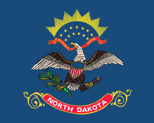 North Dakota Outline Clipart Free.