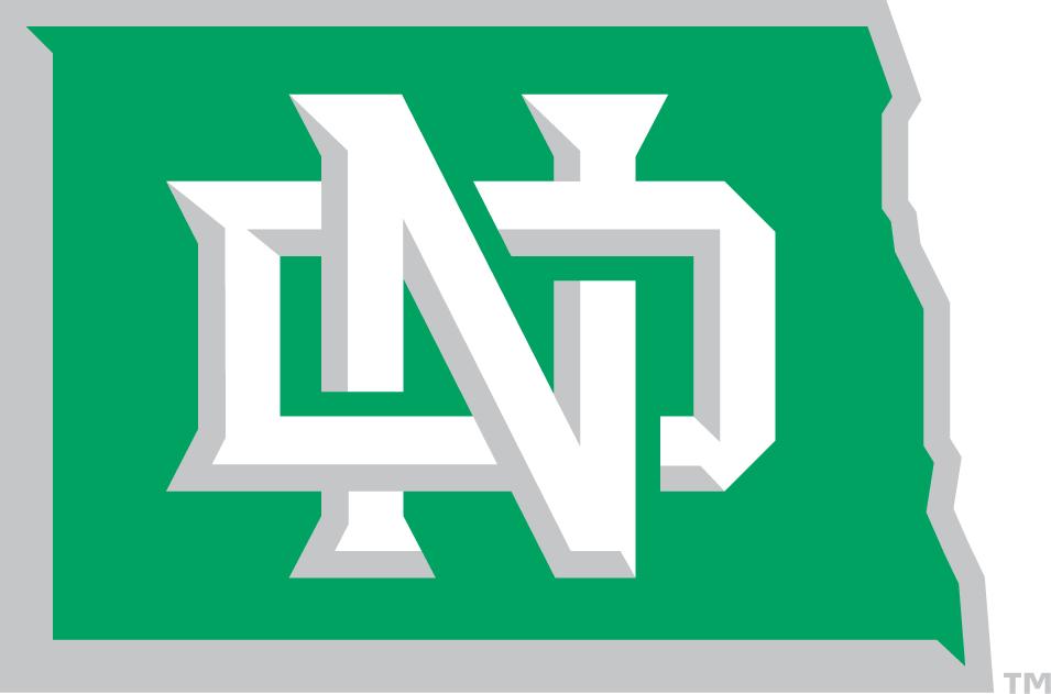 North Dakota Fighting Hawks Alternate Logo (2012).