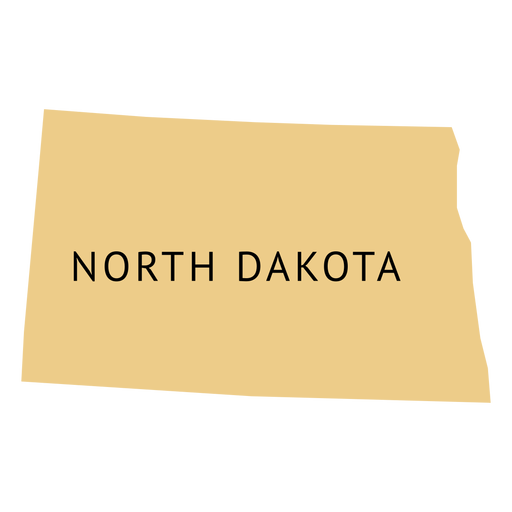 North dakota state plain map.