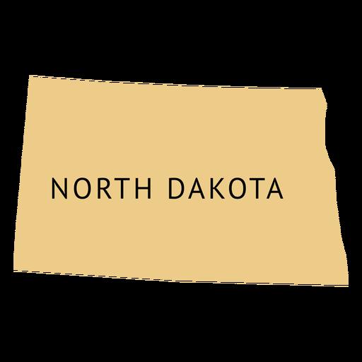 North dakota state plain map.