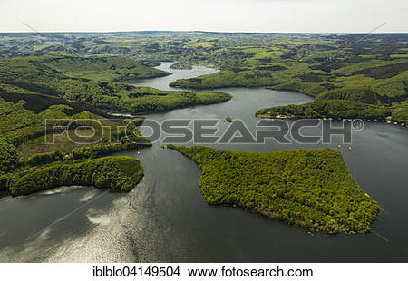 Stock Photo of Rur Reservoir, Rur Dam, Simmerath, Eifel, North.