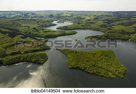 Stock Photo of Rur Reservoir, Rur Dam, Simmerath, Eifel, North.