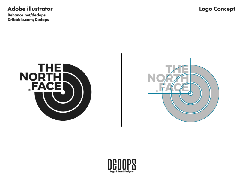 The North Face logo Redesign by Miftahudin on Dribbble.