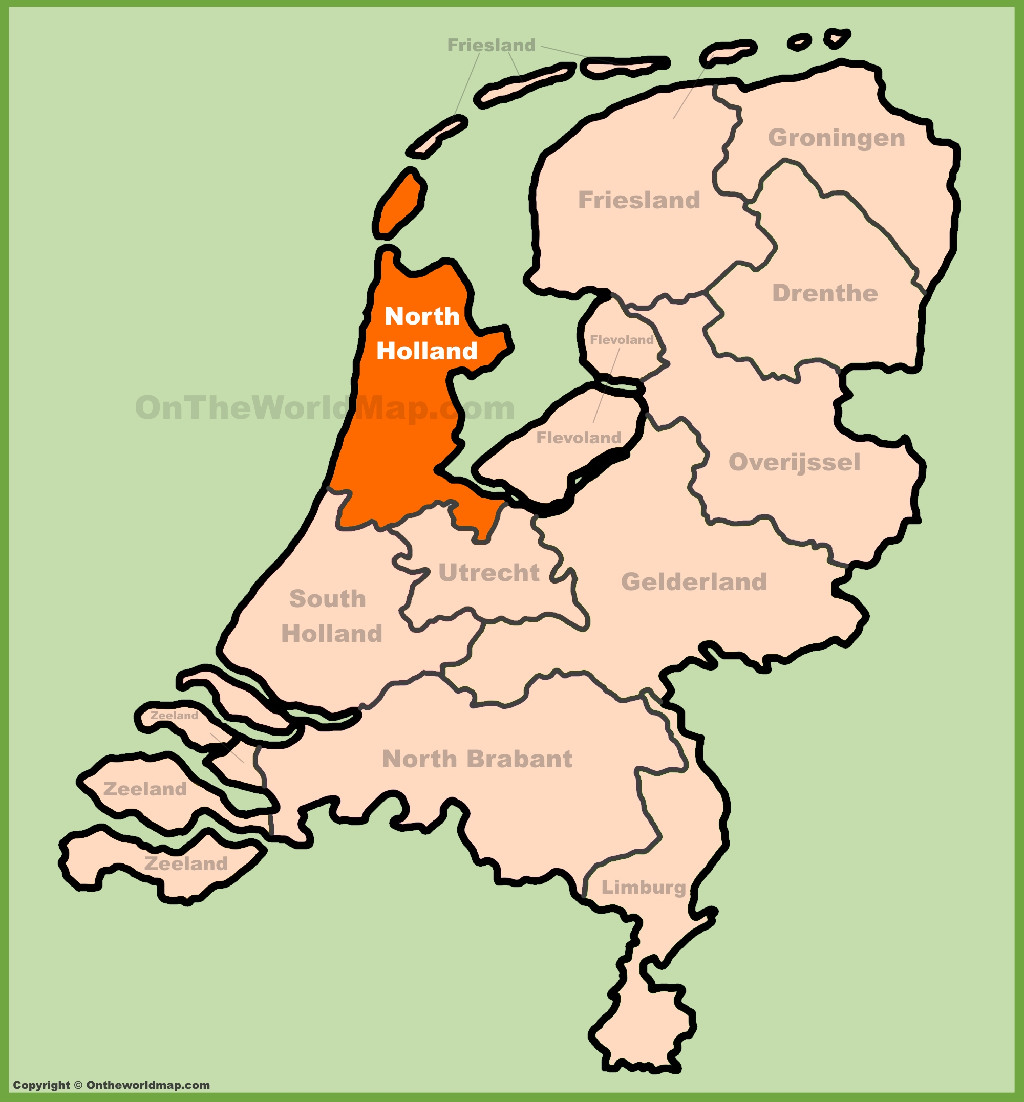 North Holland Maps.