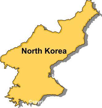North korea map clipart.