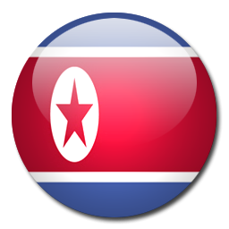 Button Flag North Korea Icon, PNG ClipArt Image.