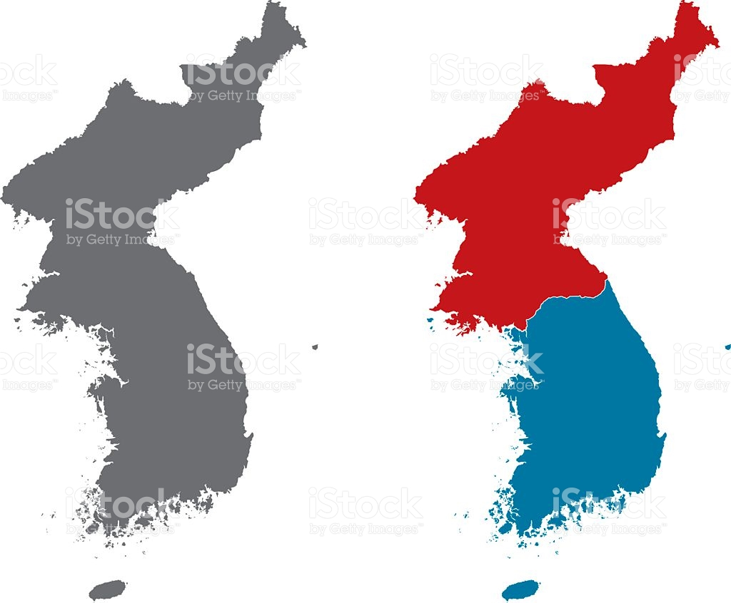 North And South Korea Clipart.