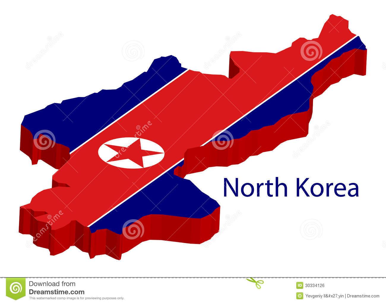 North Korea Flag Royalty Free Stock Image.