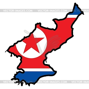 North korea map clipart.