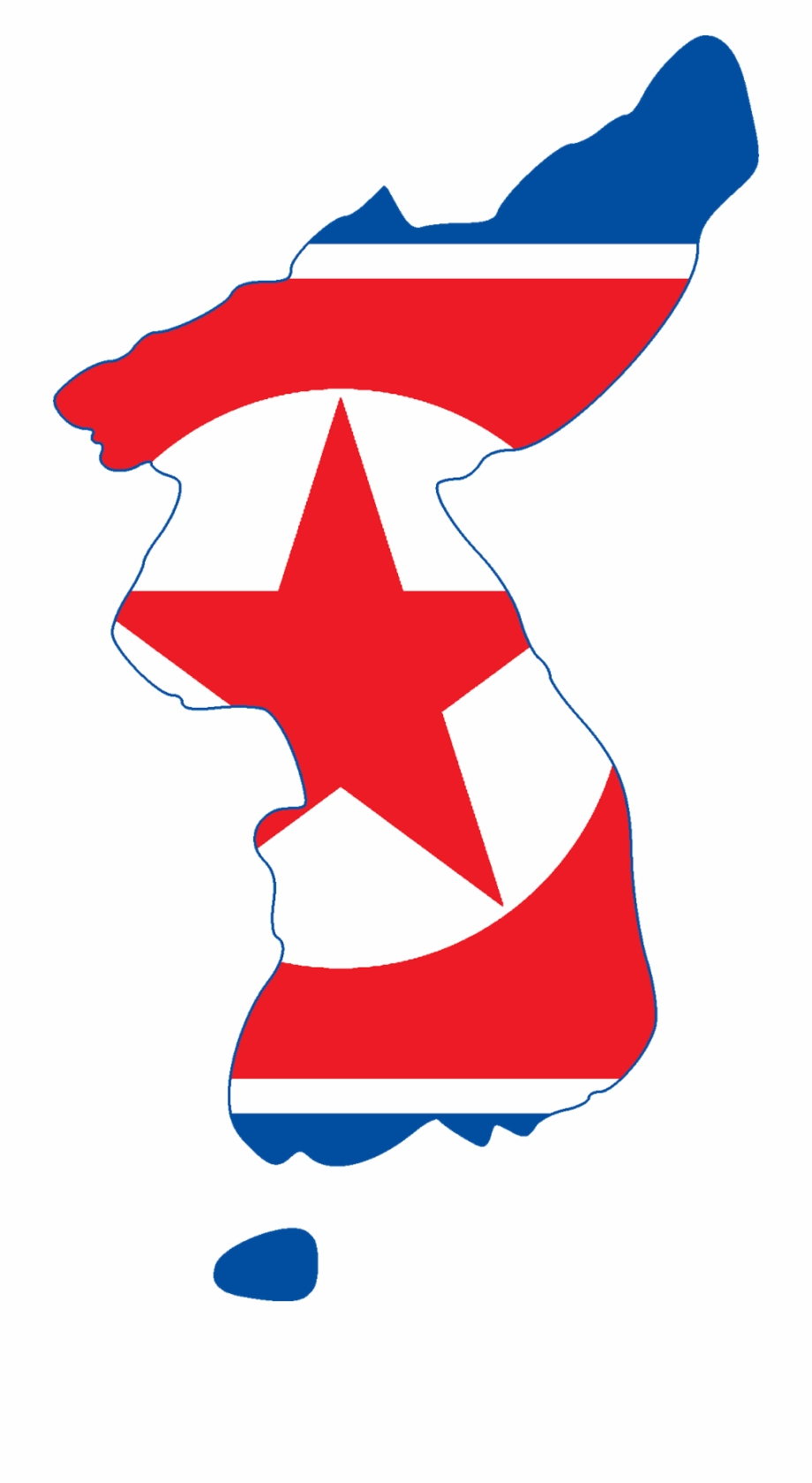 North Korea Flag With Map Graphics.