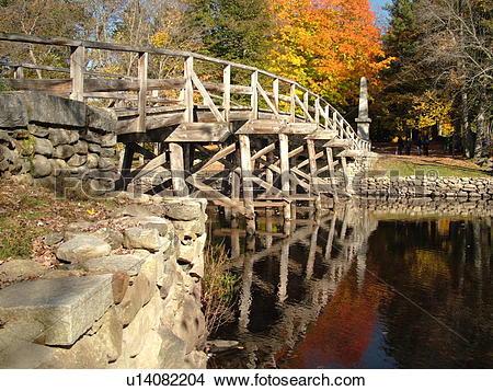 Stock Photo of Concord, MA, Massachusetts, Lexington, Minute Man.