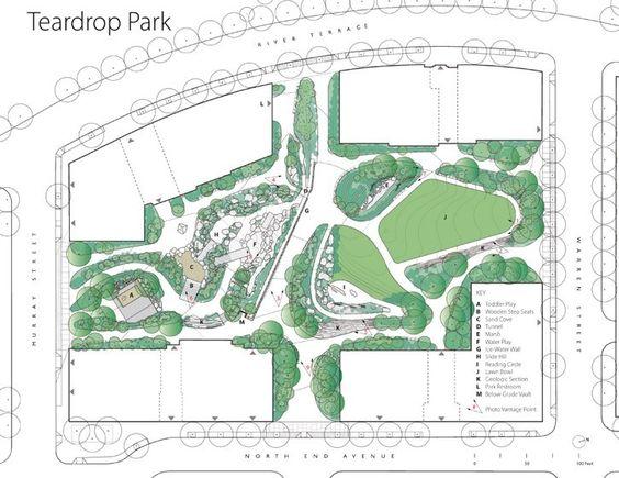 Teardrop Park North Site Plan.