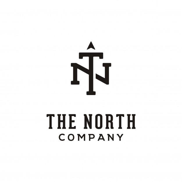 Initial/monogram tn for north logo Vector.