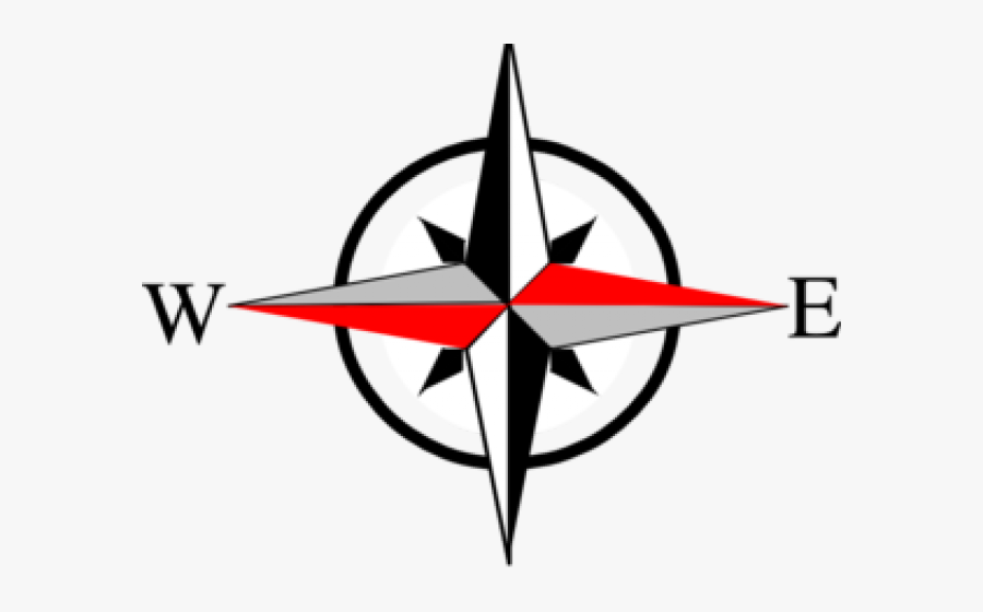 Compass North East West South , Free Transparent Clipart.