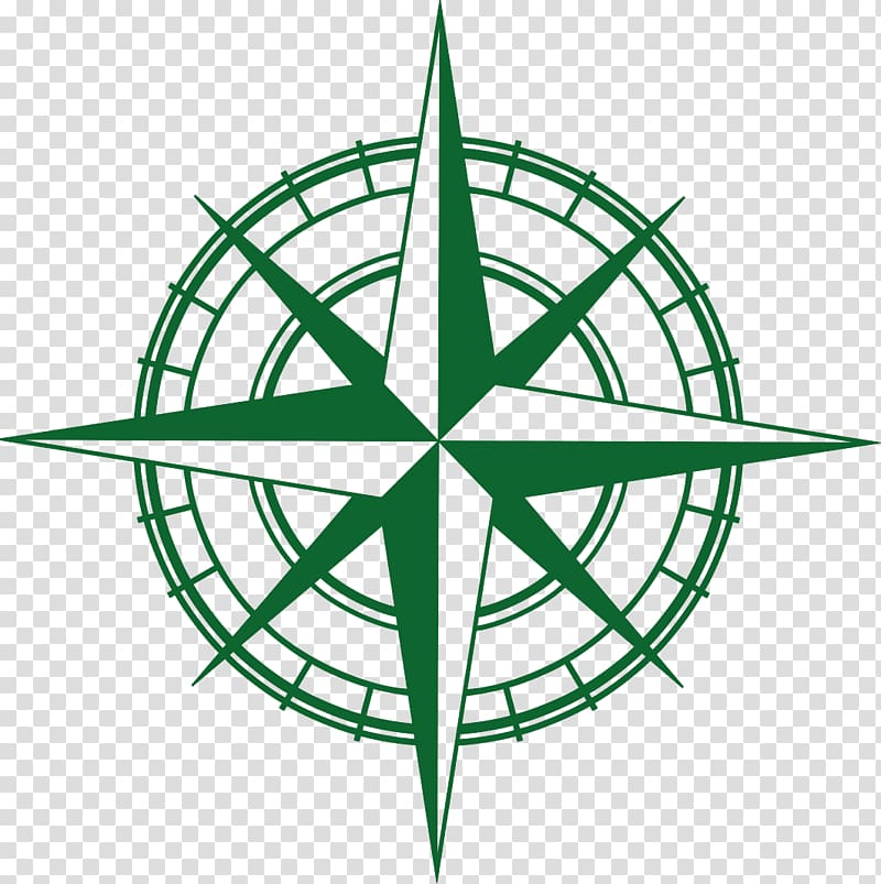 Compass rose North Arrow , 建筑logo transparent background.