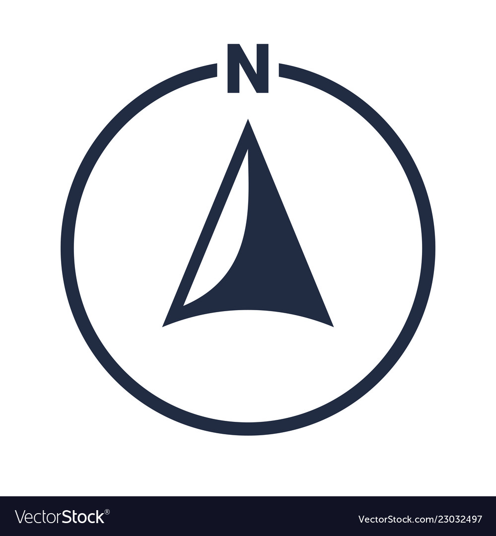 North arrow icon n direction point symbol.