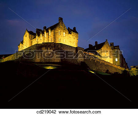 Stock Photo of Edinburgh Castle, North.