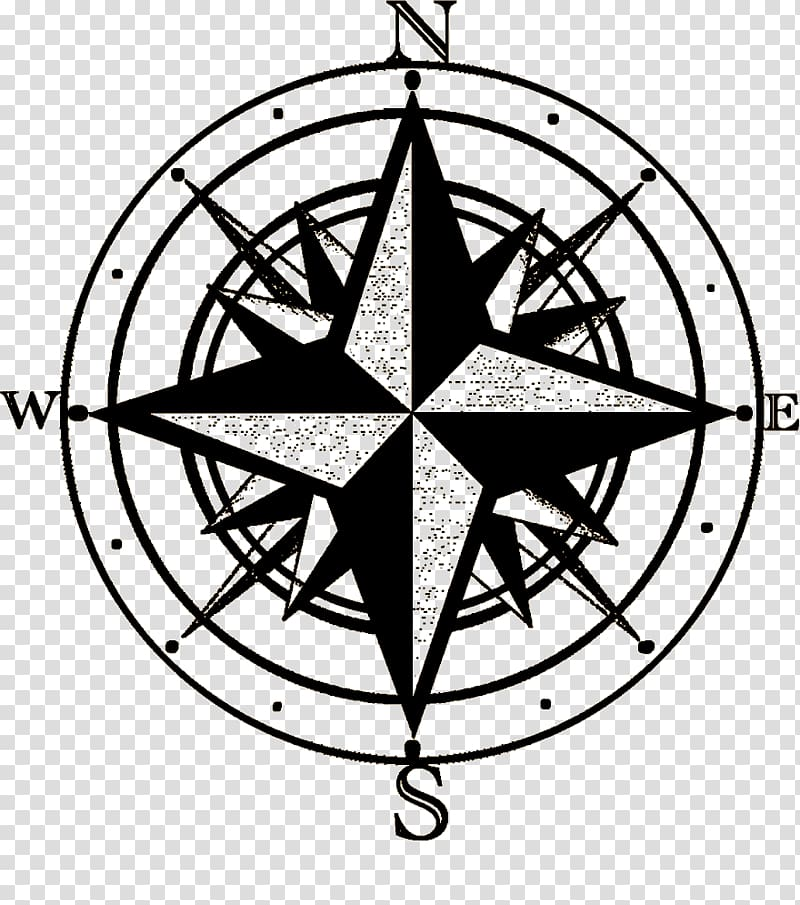 North Points of the compass , compass transparent background.