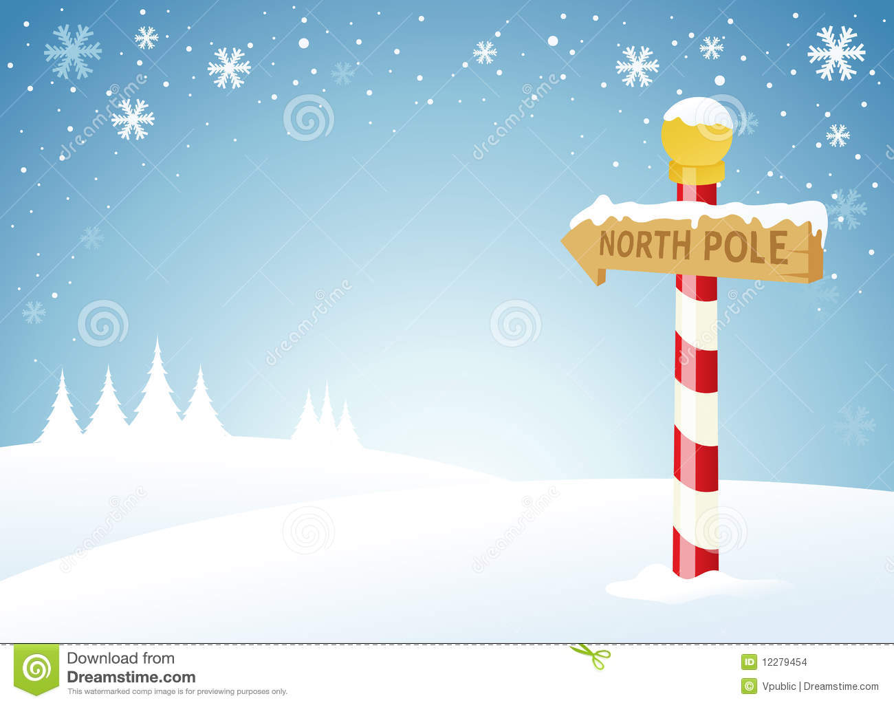 North Pole Background Clipart.