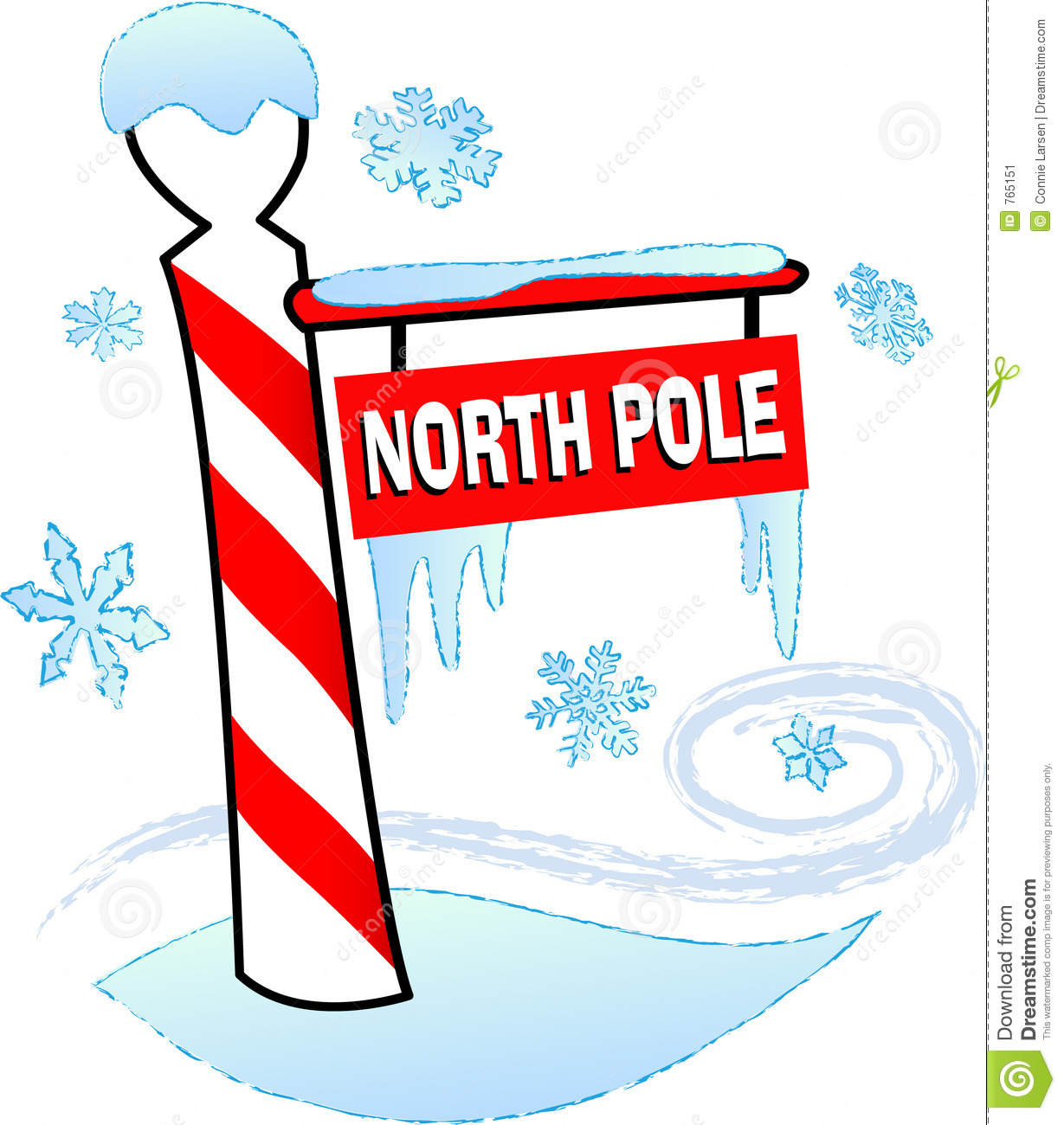 Santa north pole clipart.