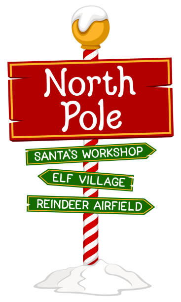 Best North Pole Illustrations, Royalty.