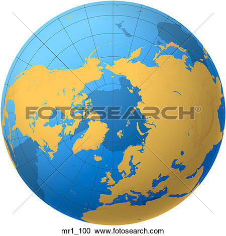 Pictures of globe, map, north pole, world mr4_098.