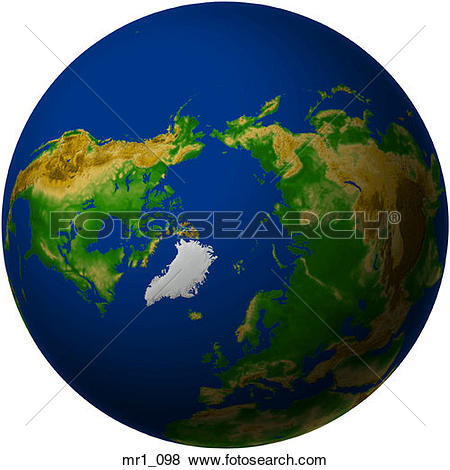 Pictures of globe, map, north pole, relief, terrain mr1_098.
