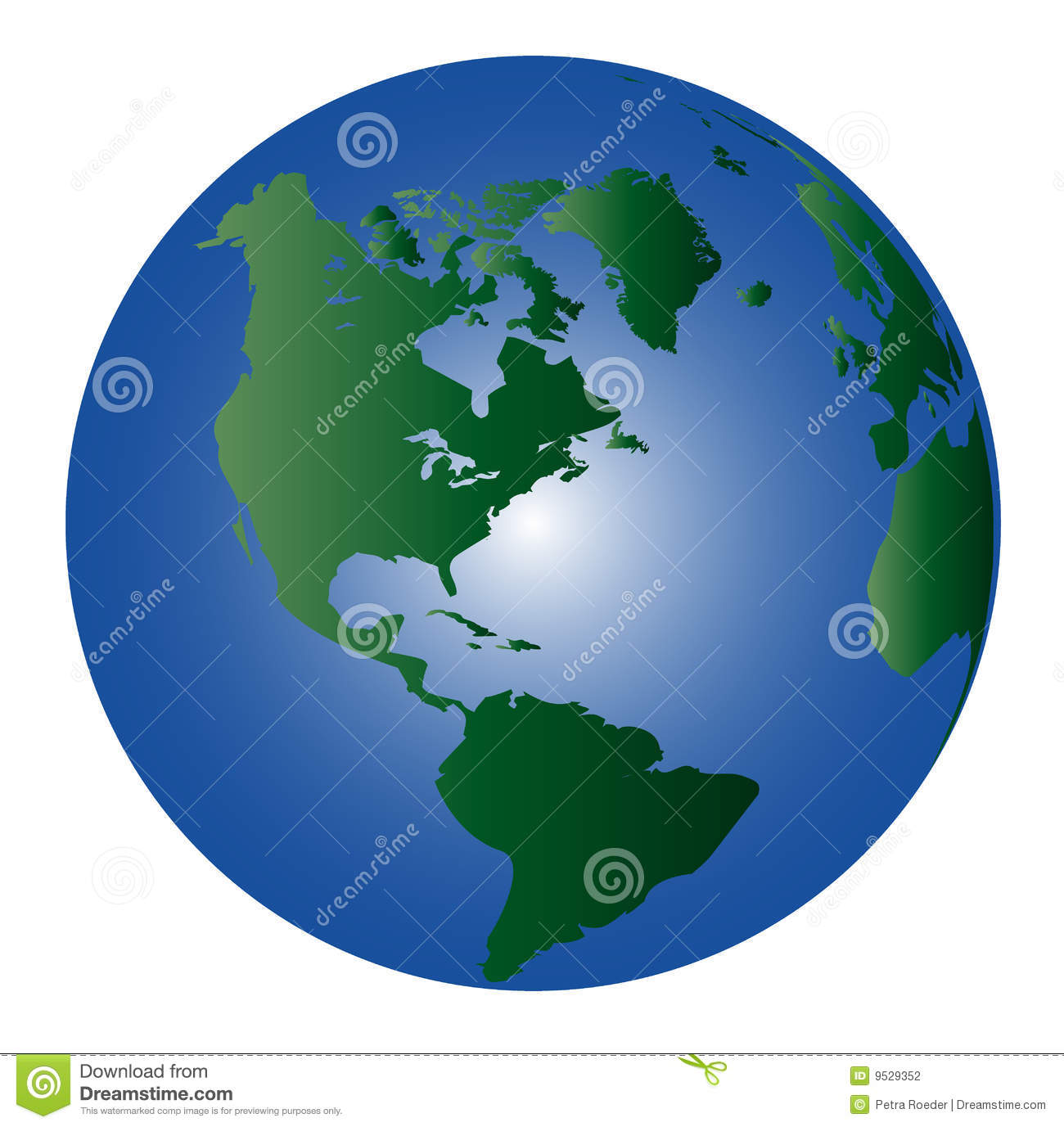 South North Pole Globe Vector Royalty Free Stock Photography.
