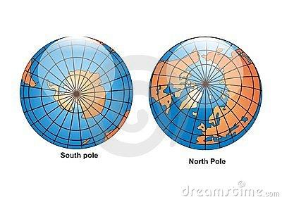 North Pole Globe Stock Photo.