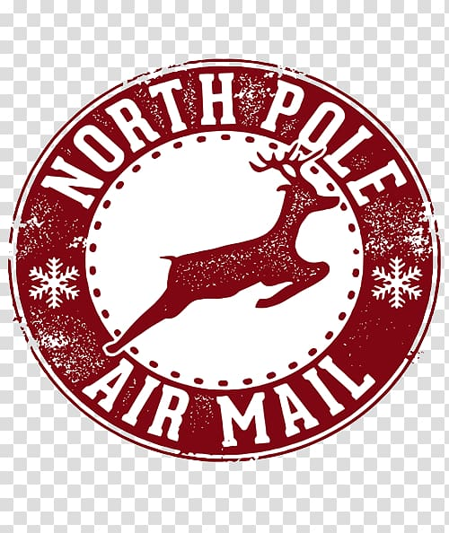 North Pole Air Mail logo, Santa Claus North Pole Christmas.