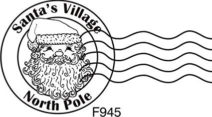 North Pole Postage Cling Rubber Stamp by DRS Designs Rubber Stamps.