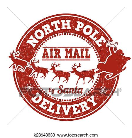 North Pole delivery stamp Clipart.