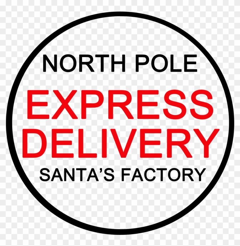 Christmas North Pole Post Mark Clip Art.