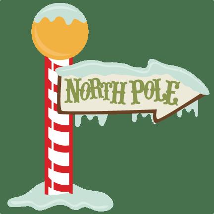 North Pole Sign Santa Claus transparent PNG.