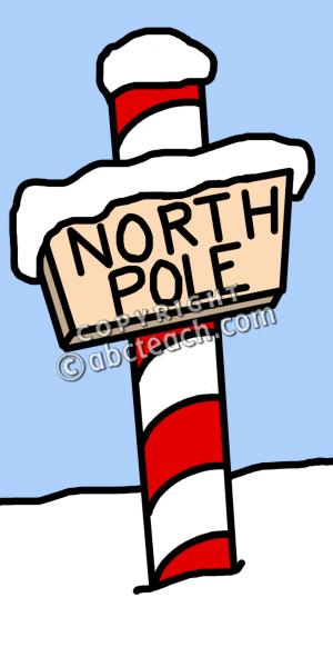 North Pole Sign Clip Art.