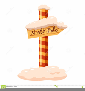 North Pole Sign Clipart Free.