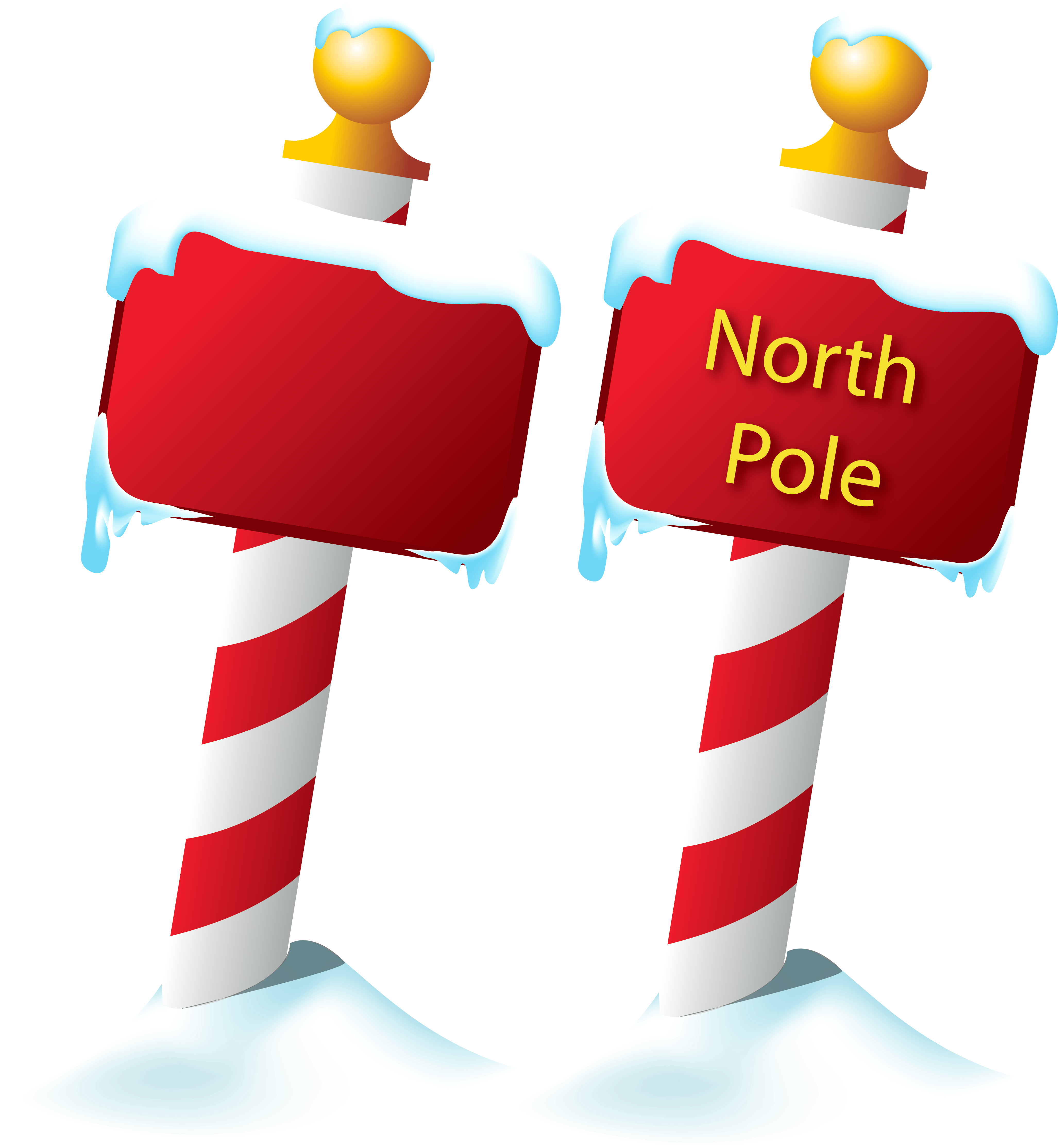 North Pole Sign PNG Picture.